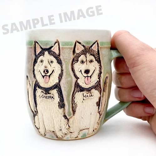 Jessica F RESERVED Custom Pet Portrait Mug