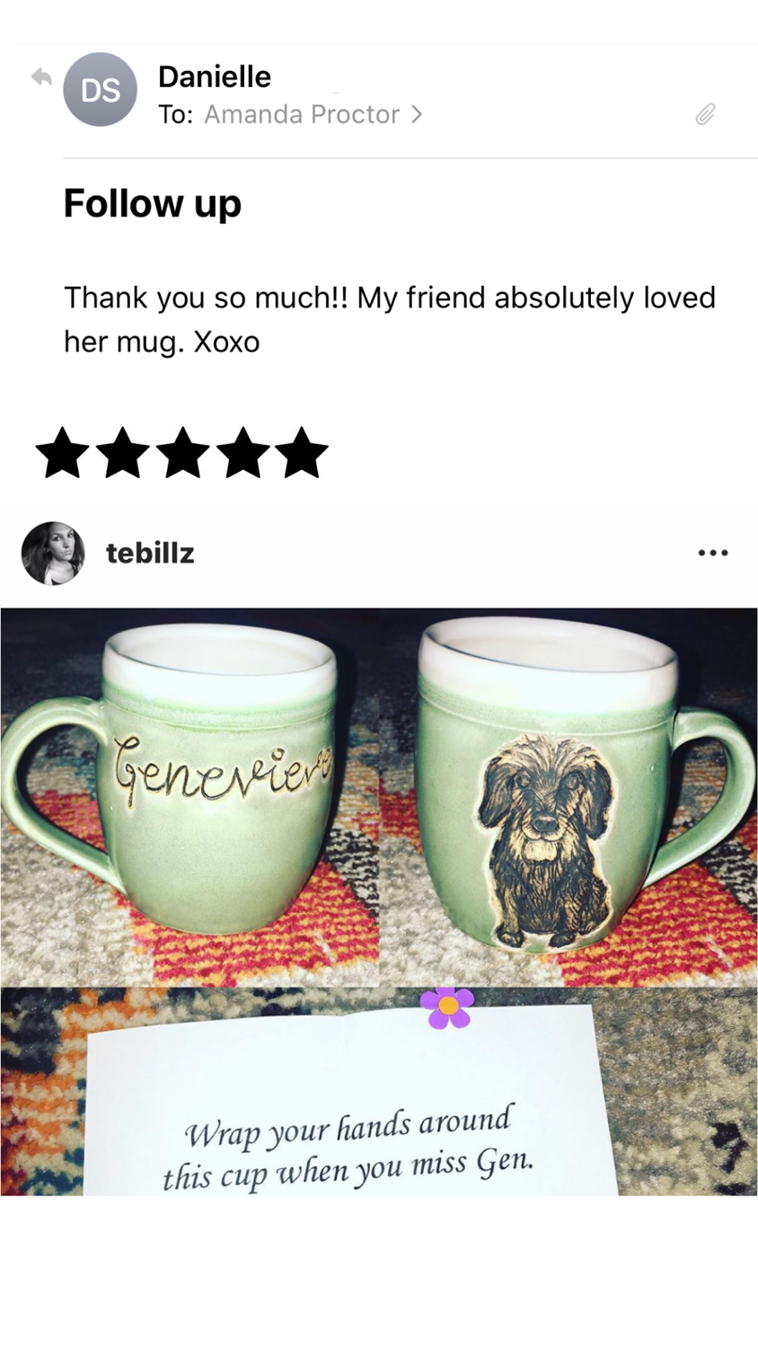 Genevieve Pet Mug