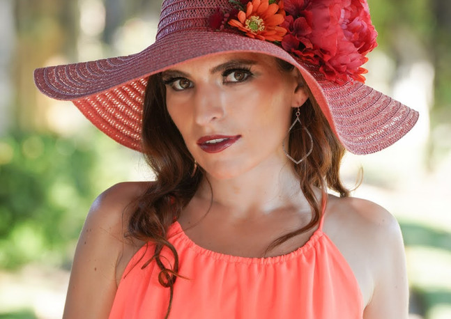 Kaitlyn Andrew Flowery Hat.JPG