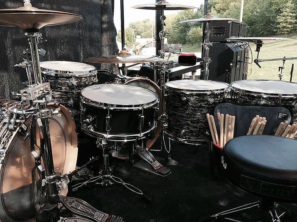 Michael Foster's Kit-Firehouse-Live-Beier 1.5 Steel Snare--6.5 x 15-
