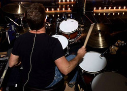 Keith Zebroski at  rehearsals-2016 CMA Awards with Miranda Lambert-1.5 Steel--6.5 x 14~