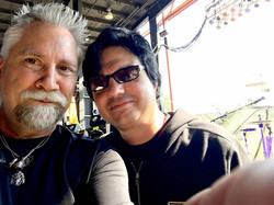 Two drummers who use Beier Drums a lot!-Randy Walker(Media 22 Prod.) & Jules Radino(Blue Oyster Cult