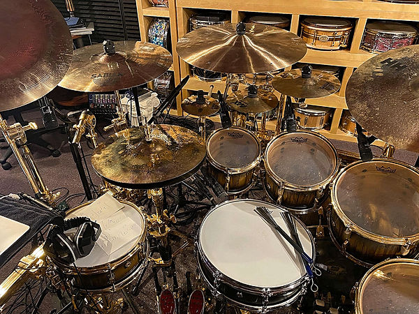 Todd Sucherman' kit (Styx) in his home s