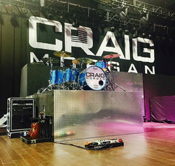 Russ Whitman's kit-Oklahoma-Craig Morgan 2017 Tour-1.5 Steel--6.5 x 14-