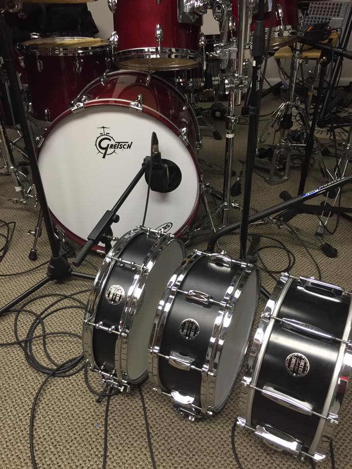 David Northrup (Oak Ridge Boys, Travis Tritt)-In the studo with his three Beier Snare Drums-1.5 Stee