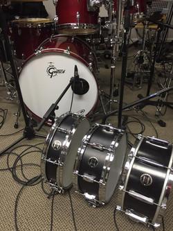 David Northrup (Oak Ridge Boys, Travis Tritt)-In the studo with his three Beier Snare Drums-1.5 Stee