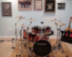 Steve Markowski's drum room with his mai