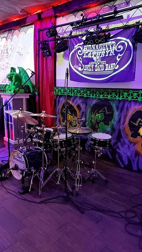 Jim Thiede's live kit (Bernadette Kathry