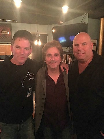 With Todd Sucherman & Mark Terek from Pearl Drums after a Styx show...