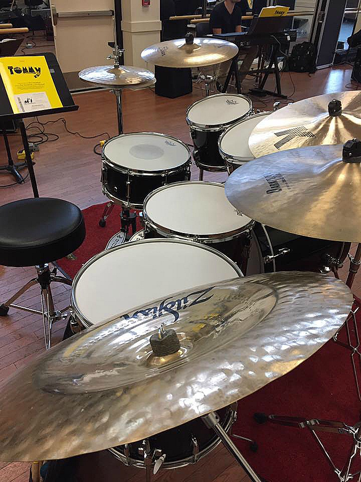 Nathaniel Dobas's kit...Orchestral rehearsals-Warner Stage Co.-Tommy-1.5 Steel--6.5 x 14~