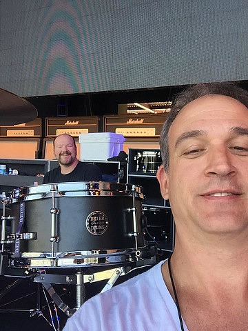 Sean Paddock & Melvin Fults with his 1.5 Steel--5.5 x 12-Kenny Chesney-Spread The Love Tour-2016...