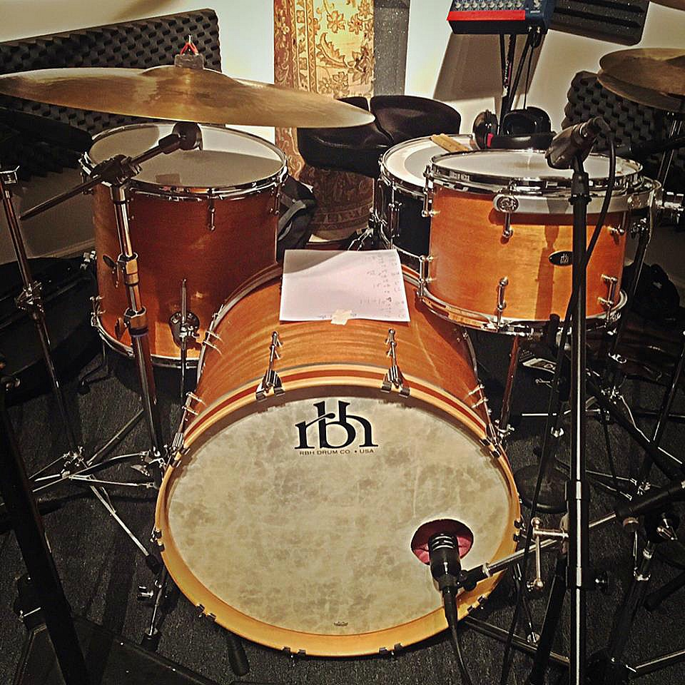 Mike Dawson's kit -Music Factory-Final cut for Shane Gamble's new record-Beier 1.5 Steel--6.5 x 15-