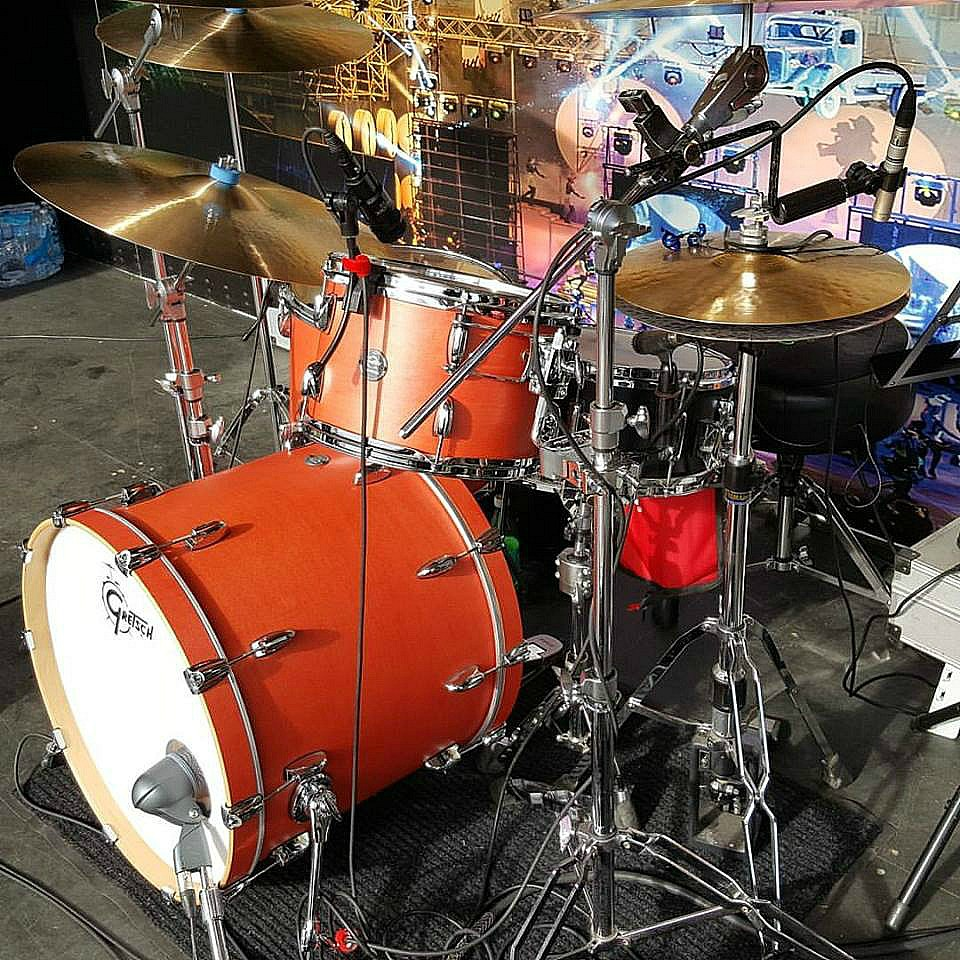 Chad Melchert's (Gord Bamford) new Gretsch Marquee kit with his main-Beier 1.5 Steel-6.5 x 14~