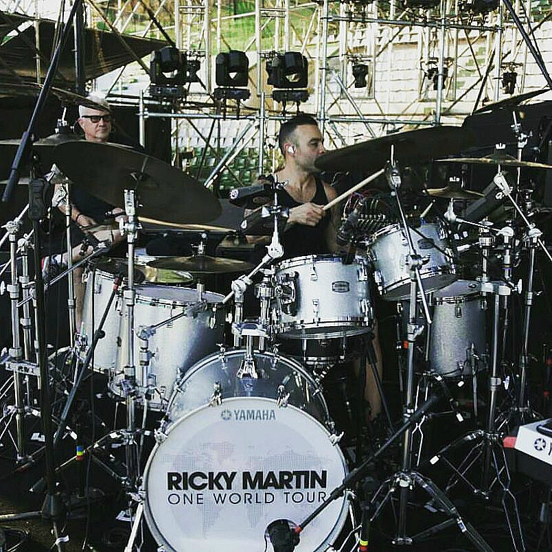 Tony Escapa-Ricky Martin One World Tour...On the way to Mexico-Beier 1.5 Steel--6.5 x 14~