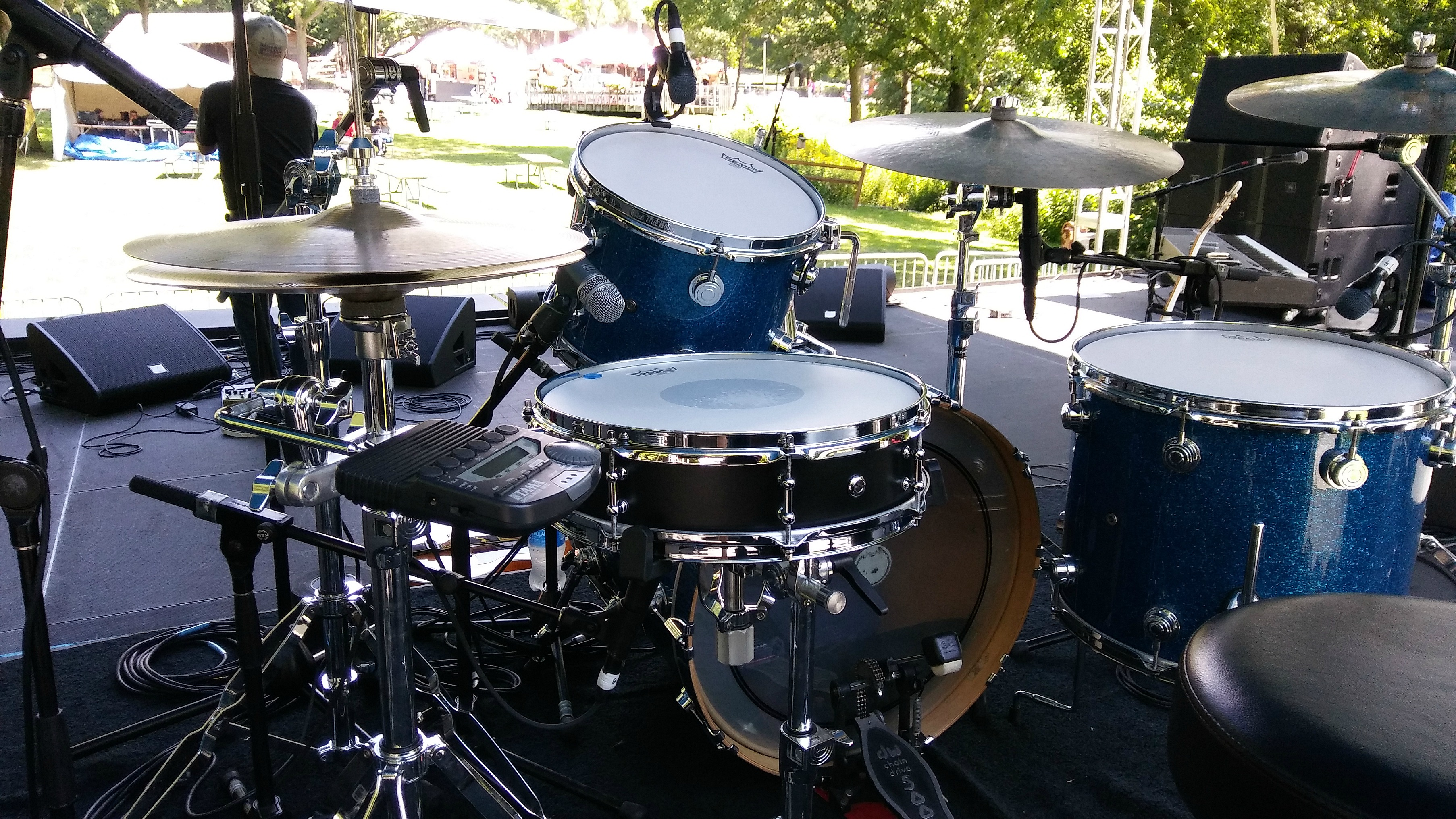 Larry Mitchell's kit with his Beier 1.5 Steel--4 x 15 in Milwaukee-Lee Rocker-Summer Tour 2017.....