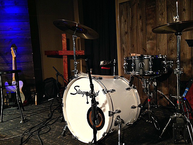 Nick Forchione's (Peach Pickers) kit in Nashville with his Beier 1.5 Steel--5.5 x 14~