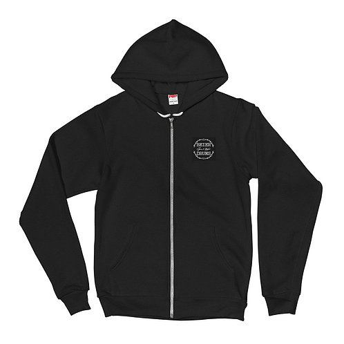 Embroidered Zippered Hoodie