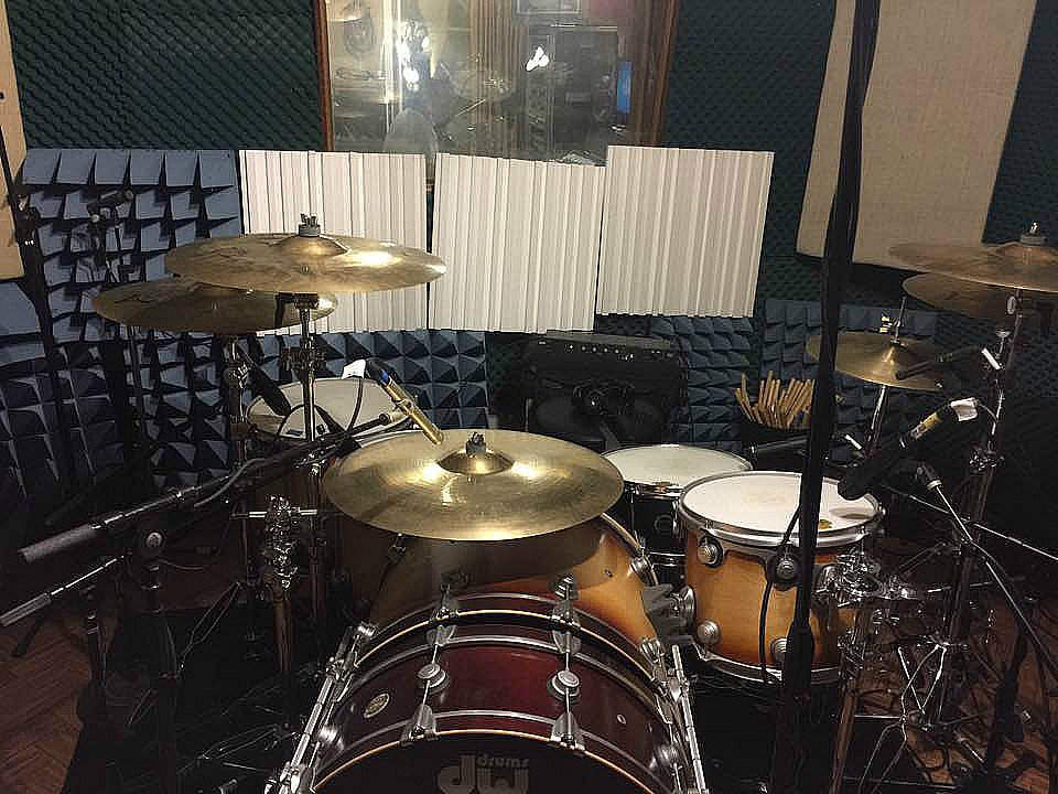 Michael Foster's kit in the studio with Bill Leverty-Beier 1.5 Steel--6.5 x 14....