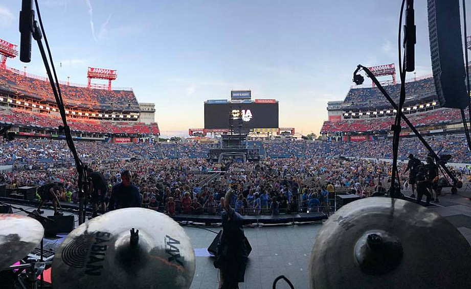 View from Mike Zimmerman's kit-Kenny Rogers-CMA Fest 2017-Beier 1.5 Steel--6.5 x 14...