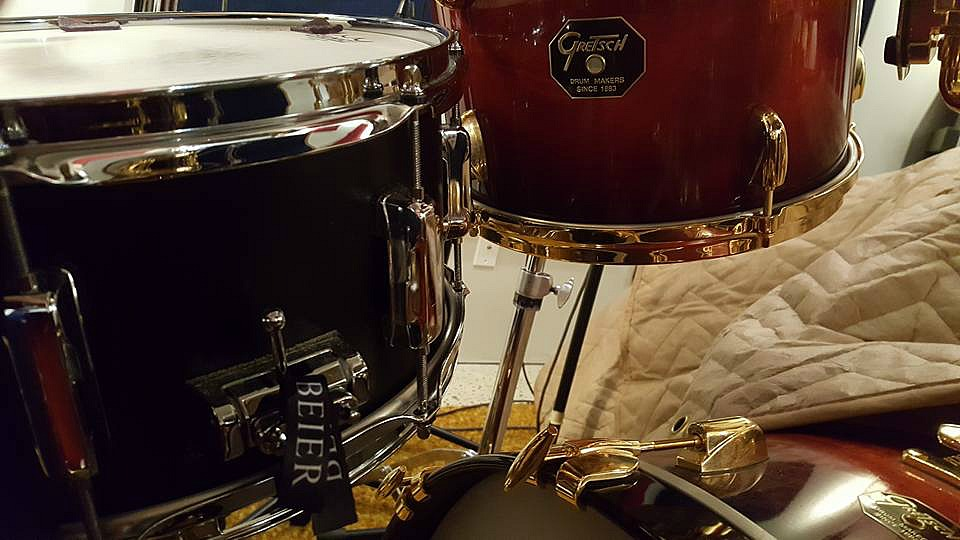 Canada's finest-Chad Melchert's kit in his home studio & one of his mains-Beier 1.5 Steel--6.5 x 14.
