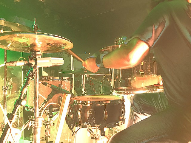 Jason Hartless-Live-Ted Nugent's Sonic Baptizm Tour with his backup snare-1.5 Steel--5.5 x 14...