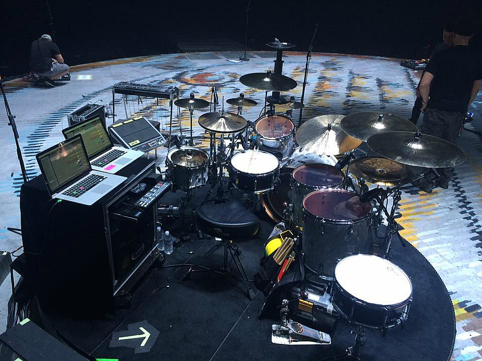 Another view of Tracy Broussard's kit-Blake Shelton Tour 2017-Rabobank Arena-1.5 Steel--6.5 x 14...