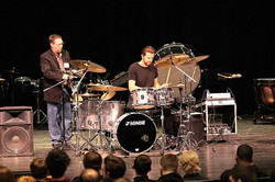 Zack Stewart in his clinic at the West Kentucky Percussion Festival-2017-Beier 1.5 Steel--6.5 x 15..
