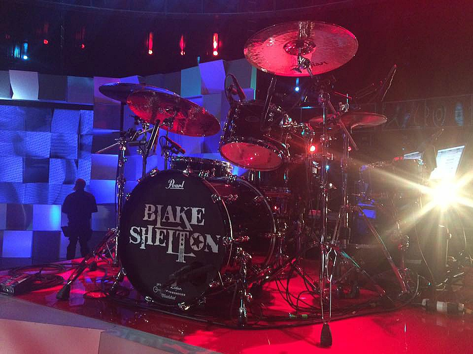 Tracy Broussard's kit with his Beier 1.5 Steel--6.5 x 14...The Voice-December 2016~