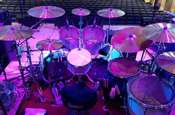 Another shot of Andy Parker's kit on the 2017 UFO Tour with his Beier 1.5 Steel--8 x 14....