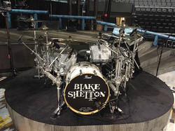Tracy Broussard-Live kit with Blake Shelton-Oklahoma-Beier 1.5 Steel Snare--6.5 x 14....