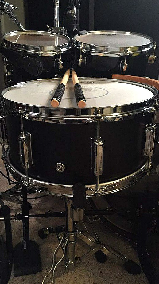 Sean Fuller's (Florida Georgia Line) Beier 1.5 Steel--6.5 x 14 in his home studio in Nashville-