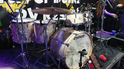 Zack Stewarts live Sonor kit for Josh Thompson... Beier 1.5 Steel--6.5 x 15...