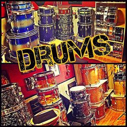 Mike Dawson's drum room with his Beier 1.5 Steel--4 x 15, 5.5 x 15 & 6.5 x 15 (not pictured)....