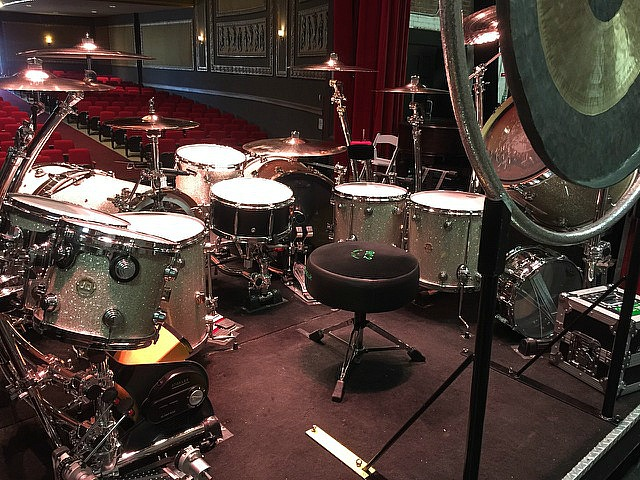 Michael Foster's kit-Firehouse show at the Beacon Theater-February 2017-Beier 1.5 Steel--6.5 x 14...