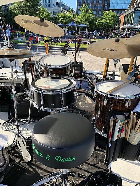 Mike Dawson's live kit with Shane Gamble