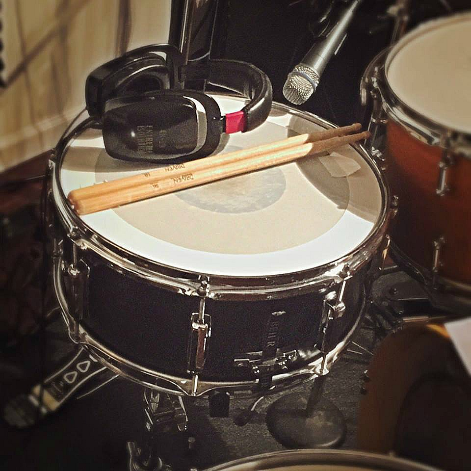 Mike Dawson's Beier 1.5 Steel--6.5 x 15 in the studio for Shane Gamble's new record....