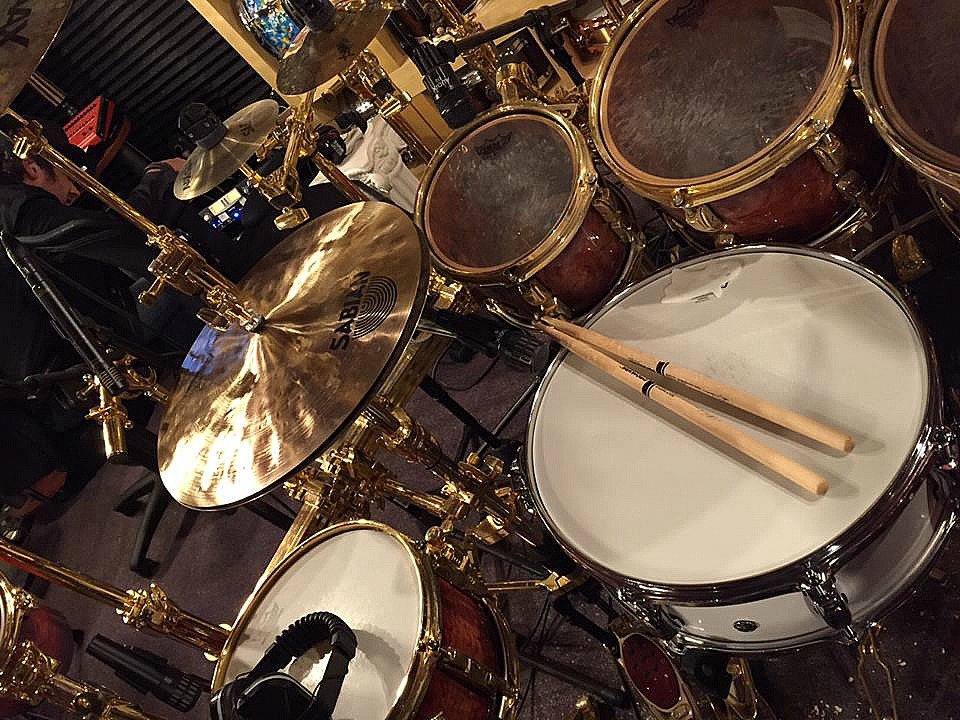 Todd Sucherman (Styx) recording in his home studio-Beier 1.5 Steel Snare--5.5 x 15~