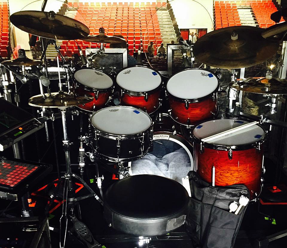 Mike Zimmerman's kit & his Beier 1.5 Steel--6.5 x 14...Kenny Rogers-The Gamblers Last Deal Tour. Tx