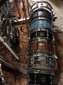 Willaim Dilla's snare collection-Top-Beier 1.5 Steel--5.5 x 15, Bottom-Beier 1.5 Steel--5.5 x 12...