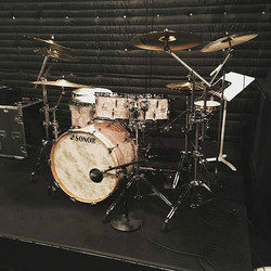 Zack Stewart's kit-S.I.R. Studios-Working on some new Josh Thompson songs-Beier 1.5 Steel--6.5 x 15-