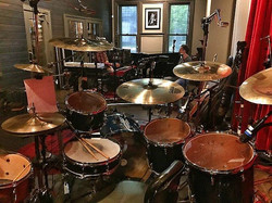Tommy Harden in the studio in Nashville with one his mains--Beier 1.5 Steel--4 x 15-Spring 2017....