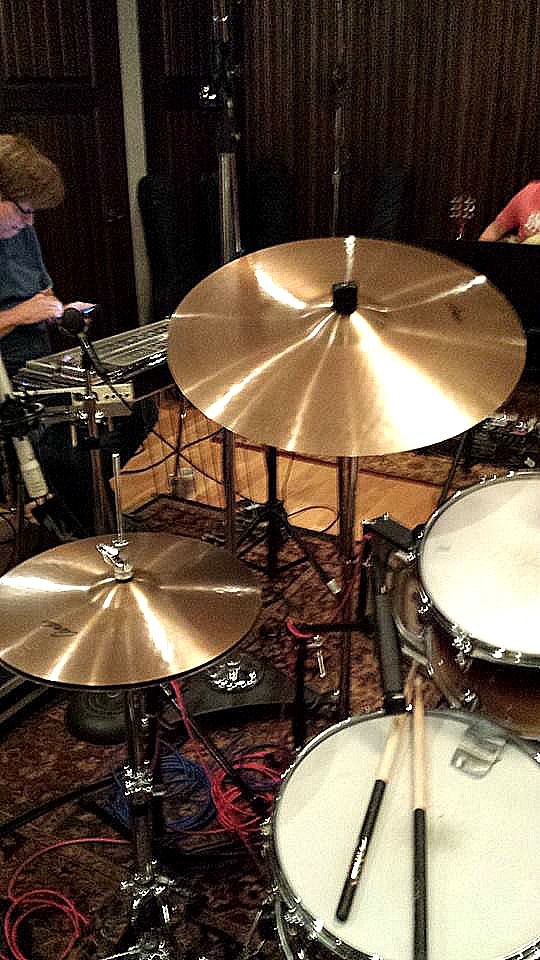 Eddie Bayers kit in the studio with Mark Capps in Nashville with his Beier 1.5 Steel--4 x 15....