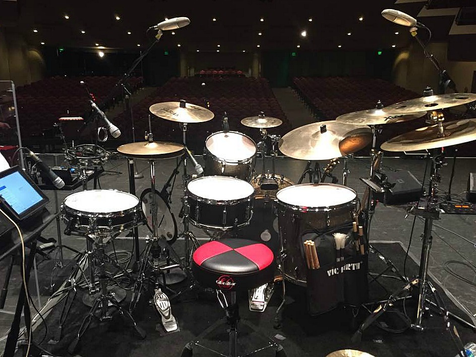 Frank Vilardi's kit on the Bacon Brothers 2017 Tour with his Beier 1.5 Steel--6.5 x 14...