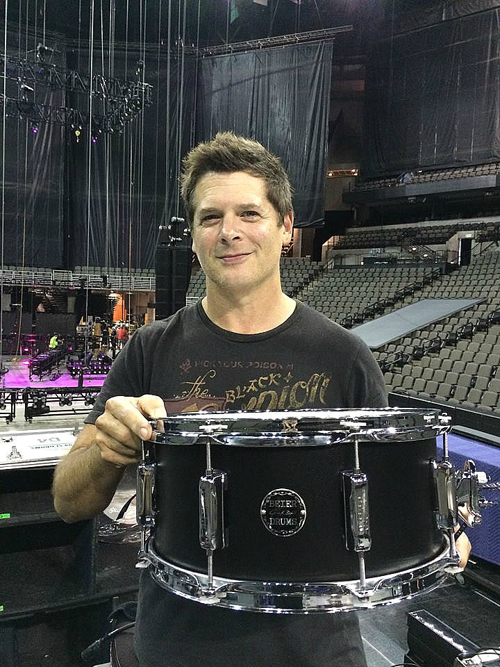 Keith Zebroski with his Beier 1.5 Steel--6.5 x 14. Miranda Lambert Tour-2016..