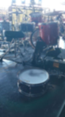 Behind the kit view of Tracy Broussard's