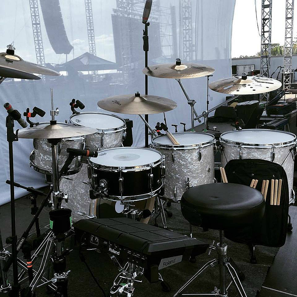 Zack Stewart's kit-Live with Josh Thompson-Florida Country Festival-Beier 1.5 Steel--6.5 x 15...