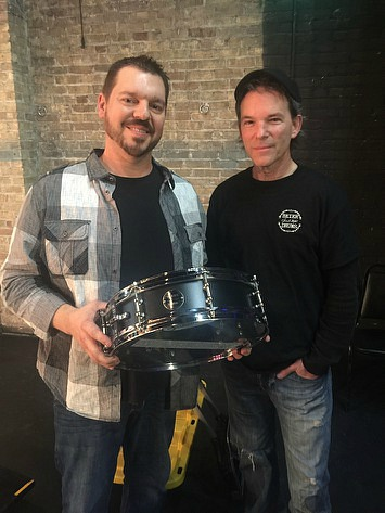 With Scott Thompson at a Pure Prairie League show & his Beier 1.5 Steel--4 x 15...