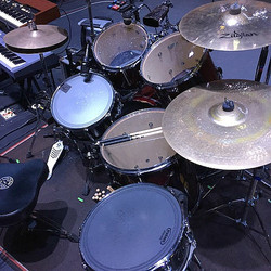 Monte Yoho's kit-The Outlaws-Lyric Theatre-Stuart, Florida-Beier 1.5 Steel--6.5 x 14, 5.5 x 14...
