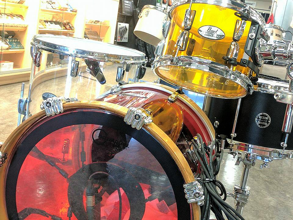 Theo Brown's kit-Long & McQuade Drum Show-Saskatoon-Beier 1.5 Steel--8 x 15....
