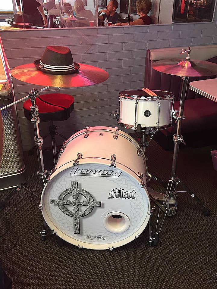 Mat Donaldson's (Drum World Tulsa) kit for the Weston Horn video shoot-Beier 1.5 Steel--8 x 14...